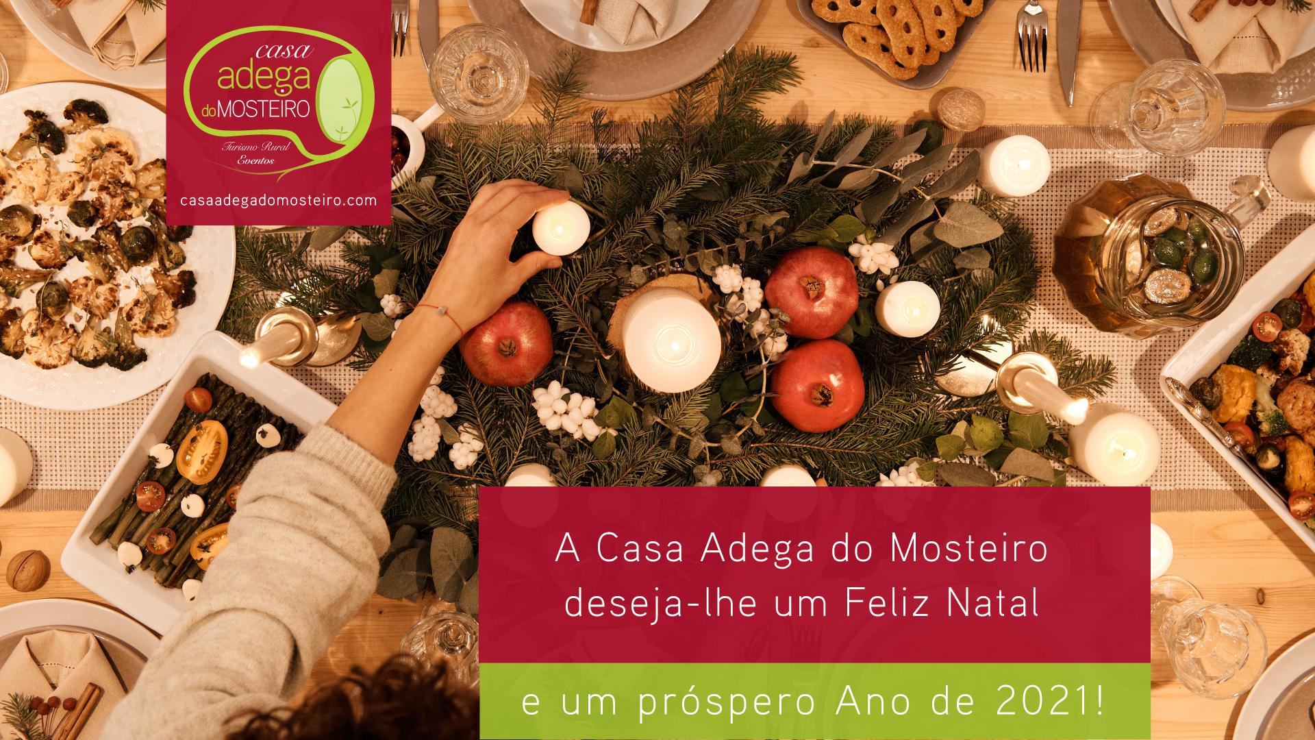 A Casa Adega do Mosteiro deseja a todos um Feliz Natal